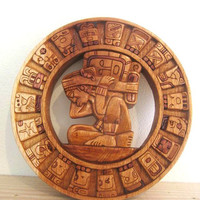 Made to Order Mayan Calendar Cedar Hand Carved