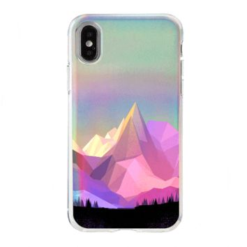Holographic iPhone Case Cover - Geo Mountain