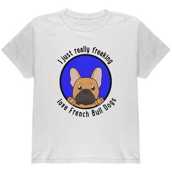 DCCKJY1 I Just Love French Bulldogs Youth T Shirt