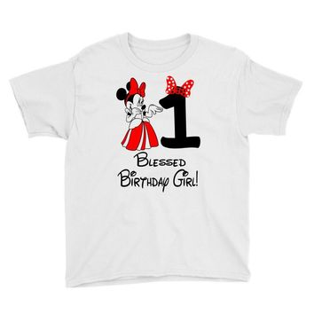 1 blessed birthday girl Youth Tee