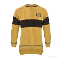 Hufflepuff™ Quidditch™ Knitted Adult Jumper | Apparel & Accessories | Warner Bros Studio Tour London