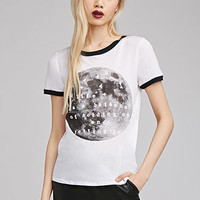 Moon Graphic Ringer Tee