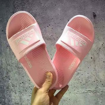 Adidas Casual Fashion Women Sandal Slipper Shoes pink H-PSXY