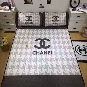 CHANEL LV Water - washed air-conditioner ice - soft mat and Pillow cases three-piece  H-A-ALCLFS