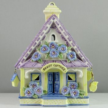 Mud Pie Pansy Candle House-87300