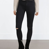 """HIGH ELASTICITY"" JEGGINGS. KNEE SEAMS"