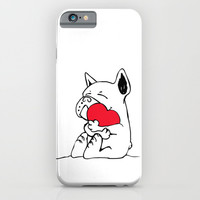 Frenchie Heart iPhone & iPod Case by Huebucket