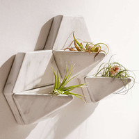 Wall-Mounted Marbled Ceramic Planter Set - Urban Outfitters