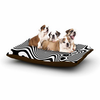 "Danny Ivan ""Trippy"" Black White Dog Bed"