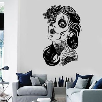 Wall Stickers Vinyl Decal Super Sexy Girl Zombie Vampire Tattoo Decor Unique Gift (z2394)