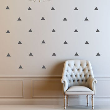Triangle Wall Decals - Geometric Decal - Wall Decals -  nursery decor - nursery decals - boys room wall decal - girls room decor