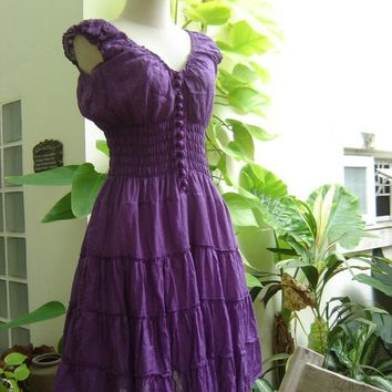 Princess Cotton Short Dress  PURPLE by fantasyclothes on Etsy