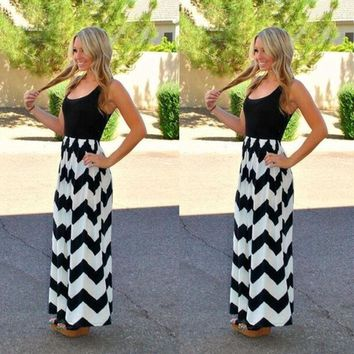 Mommy + Me Boho Chevron Maxi Dresses