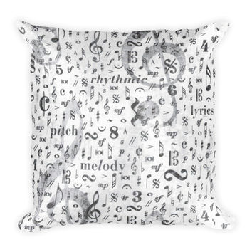 Music Note Decorative Throw Pillow