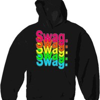 Swag Multi-Color Neon Adult Hoodie