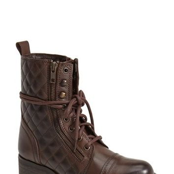 "Women's Steve Madden 'Yanki' Quilted Leather Mid Boot, 1 1/2"" heel"