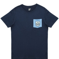 Poler - Draplin Patches Pocket T-Shirt (Blue Steel/True Blue)
