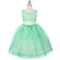 Sweet Kids Girls Mint Green Easter Flower Girl Pageant Dress 10