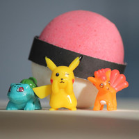Pokemon Bath Bomb | Pokeball Bath Bomb | Poke-bomb Bath Bomb | Bath Bomb | Surprise Bath Bomb