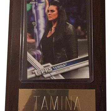 "Tamina 4"" x 6"" WWE Women's Wrestling Plaque"