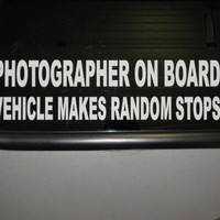 Photographer on Board car window STICKER by thatstickerguy on Etsy