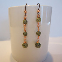 Russian Serpentine Dangle Earrings