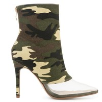 CR Printed Camo Mesh Booties