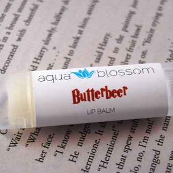 Butterbeer lip balm all natural by aquablossom on Etsy