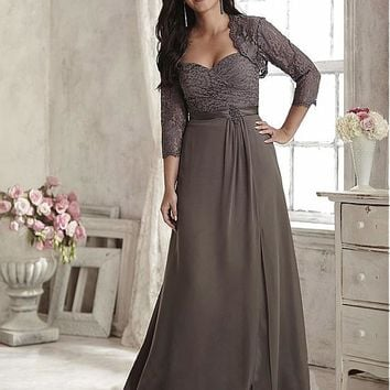 [114.99] Fantastic Chiffon Sweetheart Neckline A-line Mother Of The Bride Dresses With Beadings - dressilyme.com