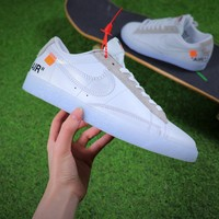 OFF WHITE x Nike Blazer Low OW Sport Shoes 443903-111 - Best Online Sale