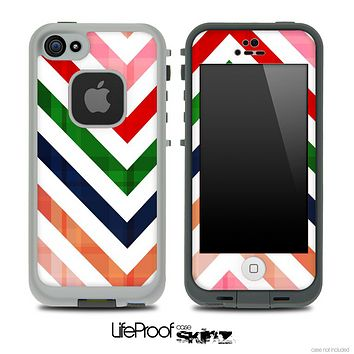 Colorful Vintage V2 Chevron Skin for the iPhone 5 or 4/4s LifeProof Case