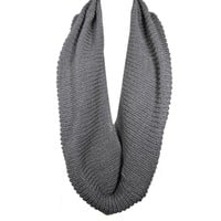 Wrapables Thick Knitted Winter Warm Infinity Scarf - Coffee