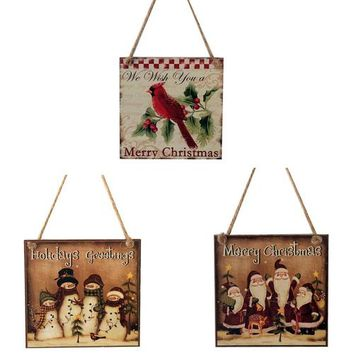 Country Gift Collection - Christmas Wooden Unique Christmas Wall Hanger
