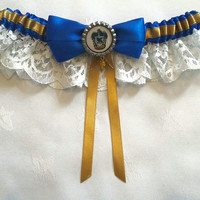 Harry Potter Hogwarts, Ravenclaw Satin/Satin and Lace Garter
