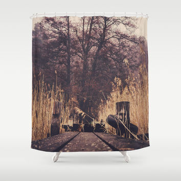 Reach for the sky Shower Curtain by HappyMelvin