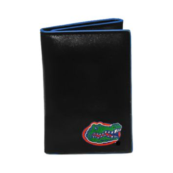 Florida Gators Men's Designer Leather Tri-Fold Wallet