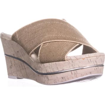 Donald J Pliner Dani2 Wedge Slide Sandals, Natural, 10 US