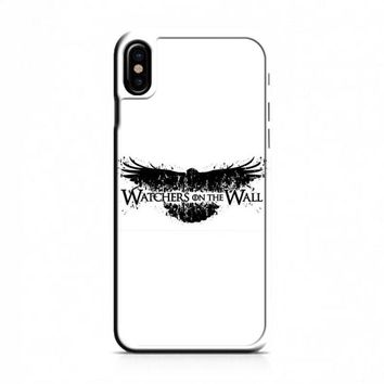 Game Of Thrones Watchers On The Wall Typo iPhone X Case