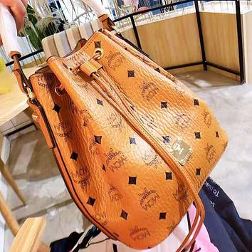 MCM new high-grade casual large capacity bucket bag with backpack shoulder bag