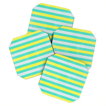 Allyson Johnson Bright Stripes Coaster Set