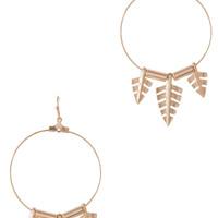ARROW DANGLE HOOP EARRING