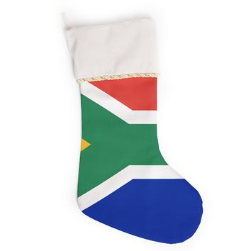 "Bruce Stanfield ""South Africa II"" Green Blue Christmas Stocking"