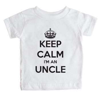 Keep Calm I'm An Uncle Baby Tee