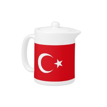 Turkish Flag on Teapot