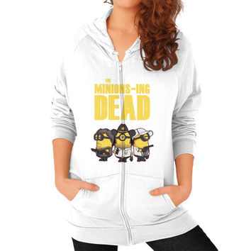 THE MINIONS ING DEAD Zip Hoodie (on woman)
