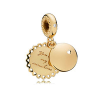 You Are My Sunshine Dangle Charm, PANDORA Shine™, Yellow Enamel & Clear CZ
