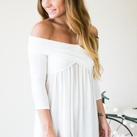 The Perfect Length Cross Front Top - Ivory