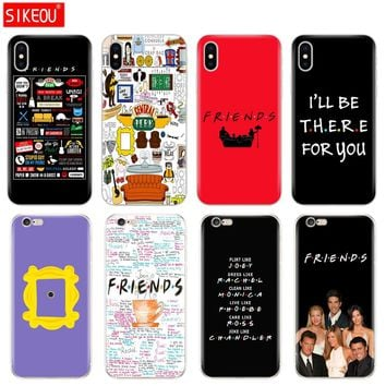 Silicone Cover Phone Case For Iphone 6 X 8 7 6s 5 5s SE Plus 10 Case Friends TV Show Series Sitcom