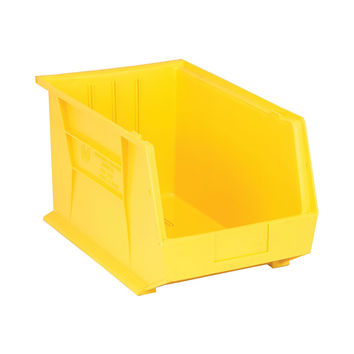 Quantum Storage Systems Ultra Stack And Hang Bin 18Lx 11W X 10H - Yellow Pack Of 4