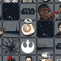 Star Wars VII Cotton Fabric with Characters   Jo-Ann